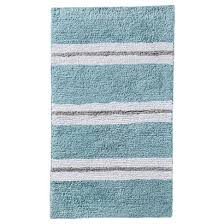 Reversible Bath Rugs Threshold Rugby Stripe Reversible Bath Rug Blue Gray 20x34