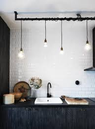 Black Kitchen Faucet Black And White Kitchen With Industrial Fixtures Black Faucet