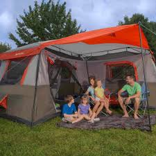 air conditioned tent ozark trail 16x16 instant cabin tent sleeps 12 walmart