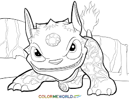 skylanders dog coloring dog free color download