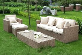 canape jardin resine salon en résine tressée keana beige collection design marque au