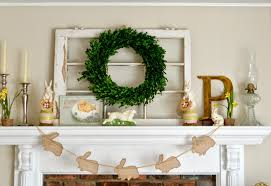 Easter Decorations For Window by Blue Ribbon Kitchen Easy Easter Mantel