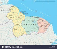 south america map atlas south america suriname guyana map atlas map of the world