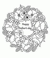 beautiful flowers for mother u0027s day coloring page for kids
