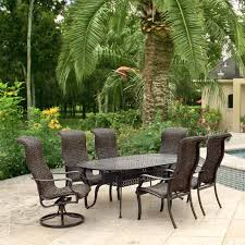 42 Inch Round Patio Table by Du Monde 7 Piece Banana Leaf Wicker Patio Dining Set W 84 X 42