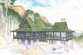 cabin house plans floorplans com
