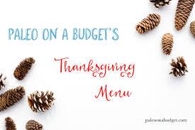 thanksgiving meal plans thanksgiving 2015 menu free thanksgiving meal plan paleo on a