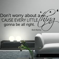bob marley wall decal sticker art vinyl quote don worry about bob marley wall decal sticker art vinyl quote don worry about thing every little gonna alright with birds