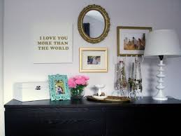 diy wall decor that you can apply amaza design dark credenza and white table lamp beside necklace hook under diy wall decor
