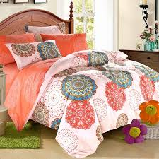 Tribal Print Bedding Coral Pink And Turquoise Western Tribal Print Bohemian Style Cute