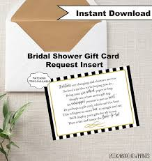 gift card bridal shower display shower gift card unwrapped gift request poem insert