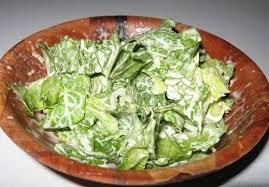 salade verte cuite recette cuisine salade verte à la crème fraiche crème fraîche la creme et frais