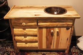 rustic bathroom vanities with tops surrounded by natural stone