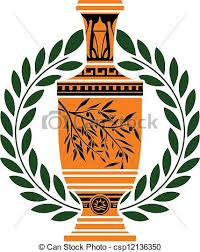Greek Vase Design Clipart Vector Of Greek Vase With Laurel Wreath Csp12136350