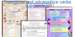 english teaching worksheets transitive and intransitive verbs