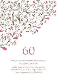 60th birthday invitations templates ideas invitations ideas