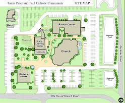 Catholic Church Floor Plans Campus Map U2014 Sts Peter And Paul Catholic Church