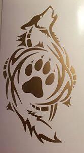 tribal wolf paw print decal vinyl sticker window car gold ebay