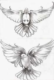 two flying dove tattoo design by abou
