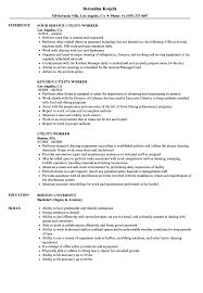 exle of a simple resume utility worker resume sles velvet