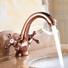 vintage bathroom sink faucets rose gold antique copper water