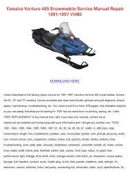 yamaha venture 485 snowmobile service manual by marlonmaas issuu