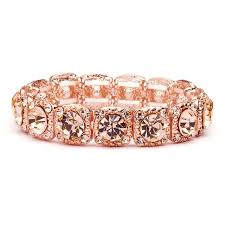 rose gold color bracelet images Rose gold coral color wholesale bridal or prom stretch bracelet jpg