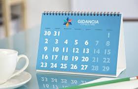 chevalet de bureau personnalisé calendrier chevalet pour bureau