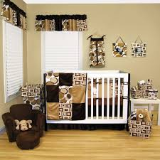 cheerful unisex baby room themes design with owl and tree
