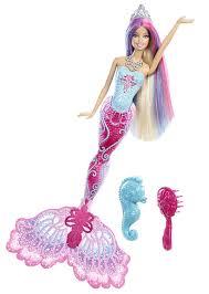 amazon com barbie color magic mermaid doll toys u0026 games