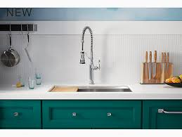 semi professional kitchen faucet k 77515 tournant semi professional kitchen sink faucet kohler
