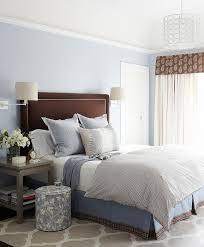 Gray Nightstands Brown And Blue Bedroom With Gray Nightstands And Gray Trellis Rug