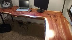 live edge computer desk live edge desks and custom tables furniture in mckinney tx
