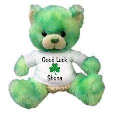 Shamrock Green Personalized St Patrick U0027s Day Teddy Bear 10