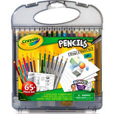 crayola colored pencil design and sketch art kit 65 pieces