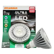 lowes outdoor led flood lights shop sylvania 18 watt 75w equivalent par38 cool white outdoor