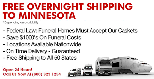 overnight caskets minnesota casket company discount prices free next day delivery