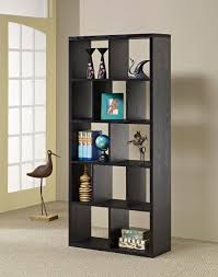 Cubby Hole Shelves by Furniture Of America Flin Black Cubbyhole Bookcase Enitial Lab
