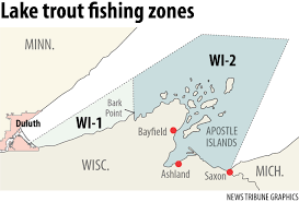 Wisconsin Dnr Lake Maps by Last Day For Lake Trout Season Closes In Apostle Islands Area As