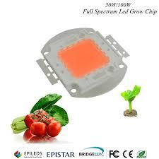 epistar led grow light hydroponice 1w 3w 5w 50w 100w led grow chip epistar 35mil led chip