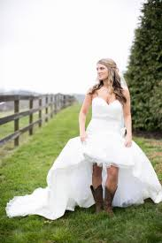 high low wedding dress with cowboy boots country wedding dress styles wedding ideas