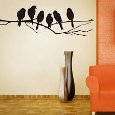 wall art mural decor sticker black cute birds the branch wall art mural decor sticker black cute birds the branch decal poster living room bedroom decoration stick paper