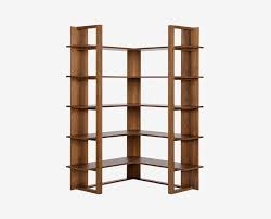 wood corner bookcase kring corner bookcase storage scandinavian designs