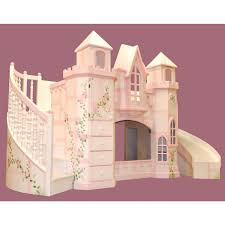 Walmart Loft Bed With Slide Bedding Furniture Smooth Pink Wooden Castle Bunk With Stairs And
