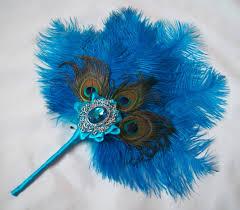 peacock fan standard turquoise fan with peacock feathers indigo weddings