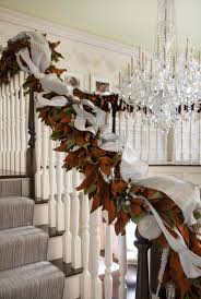 Handrail Christmas Decorations Christmas Decorating Staircase U0026 Entry Archives Splendid Habitat