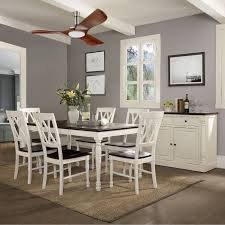 Ceiling Fan In Dining Room Crosley Shelby 7 Piece Dining Table Set Hayneedle
