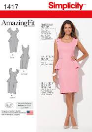 peplum dress simplicity 1417 misses and women s amazing fit peplum dress