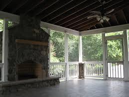 screen porch fireplace ideas home design ideas