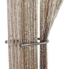 String Tassel Curtains Amazon Com Octorose String Thread Fringe Curtain Panel